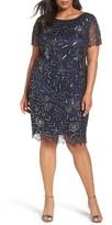 Pisarro Nights Plus Size Women's Embellished Chiffon Cocktail Dress