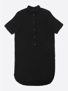 Lowie Black Linen Shirt Dress - M - Black