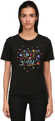 Saint Laurent Love 1983 Printed Cotton Jersey T-shirt