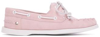Loewe Pink Nubuck Boat Shoes