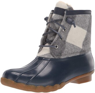 Sperry Womens Saltwater Buffalo Check Boots