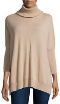 Neiman Marcus Cashmere Dolman-Sleeve Turtleneck Sweater
