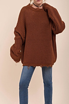 Moon River Distressed Chunky Sweater