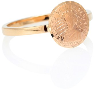 Anissa Kermiche Louise dOr Coin 18kt gold pinkie ring