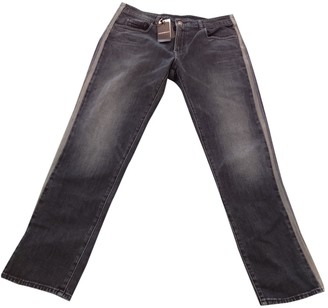 Giorgio Armani Blue Cotton Jeans for Women