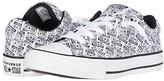 Converse Chuck Taylor(r) All Star(r) Street License Plate Slip-On (Little Kid/Big Kid) (White/Black/White) Boy's Shoes