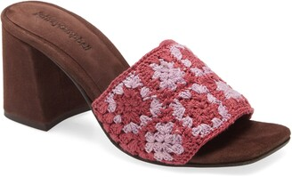 Jeffrey Campbell Mixup Block Heel Slide Sandal