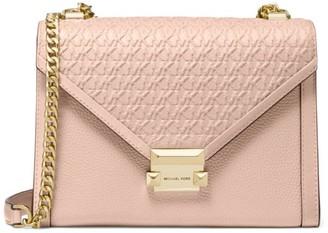 MICHAEL Michael Kors Large Whitney Embossed Leather Shoulder Bag