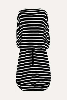 MM6 MAISON MARGIELA Oversized Striped Knitted Dress - Black