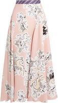 Roksanda Jerrick Printed Silk-georgette Midi Skirt - Pink