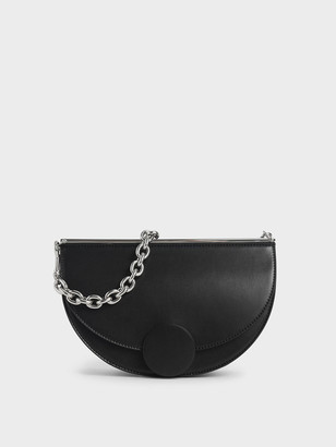 Charles & Keith Half Moon Clutch