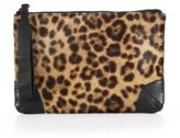 Rag & Bone Leopard-Print Calf Hair Wristlet