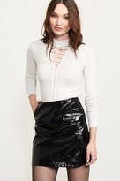 Dynamite Faux Leather Mini Skirt