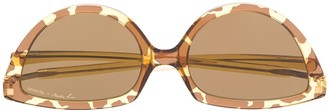 Mykita x Martin Rose cat-eye tinted sunglasses