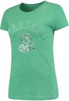 Original Retro Brand Unbranded Women's Heathered Apple Green Michigan State Spartans Tri-Blend Crew Neck T-Shirt