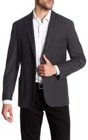 Michael Bastian Charcoal Woven Two Button Notch Lapel Extra-Trim Fit Suit