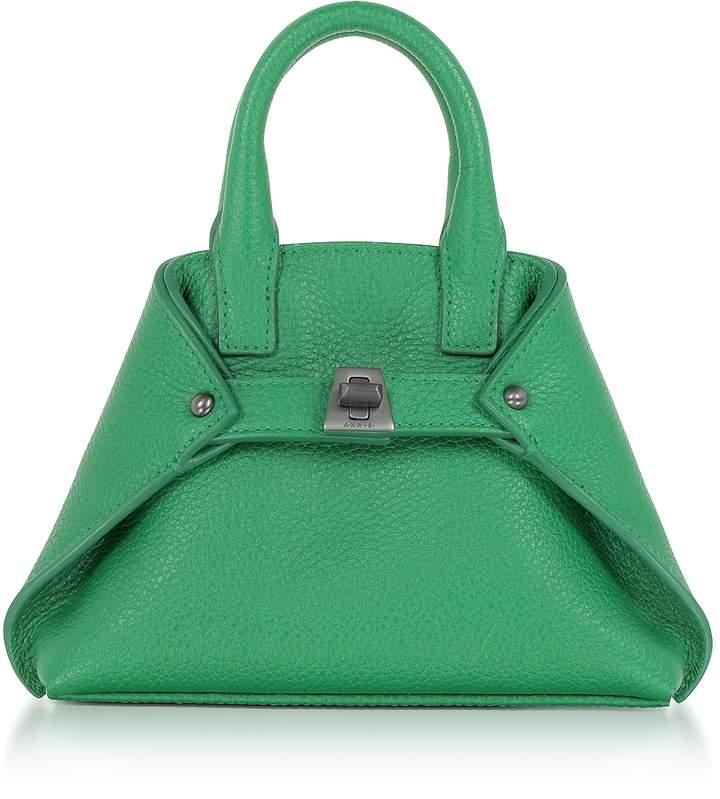 Akris Aloe Green Leather Micro Ai Messenger Bag