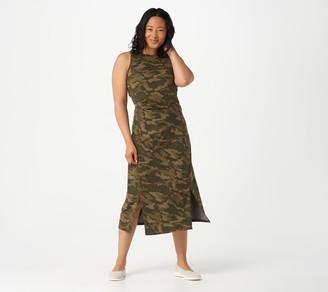 zuda Z-Cool Petite Printed Knit Midi Dress