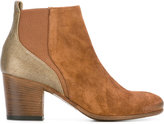 Pantanetti metallic detail ankle boots - women - Calf Leather/Leather/Suede - 38.5