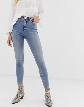 Only authentic denim high waist skinny jean