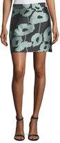 Milly Poppy Floral Twill Modern Miniskirt