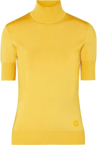 Givenchy Knitted Turtleneck Top - Yellow