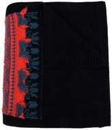 Barrie Cashmere Intarsia Scarf