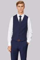 Hardy Amies Tailored Fit Blue Waistcoat