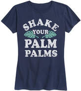 Instant Message Women's Women's Tee Shirts NAVY - Navy 'Shake Your Palm Palms' Relaxed-Fit Tee - Women