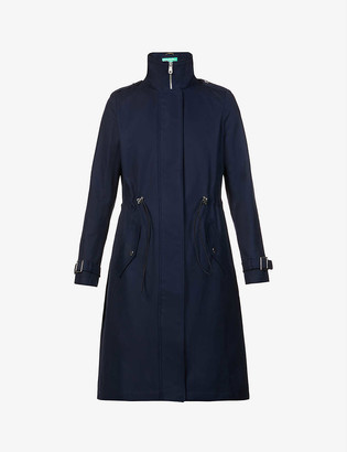 Benetton High-neck cotton twill trench coat