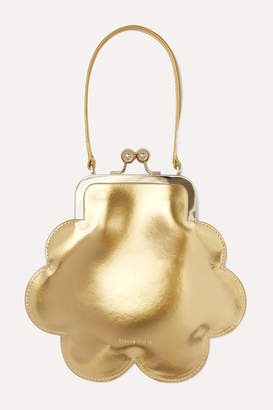 Simone Rocha Flower Metallic Patent-leather Tote - Gold