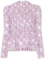 See by Chloe ruffle-trim paisley print top