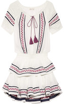 LoveShackFancy - Poppy Embroidered Cotton-voile Mini Dress - White