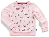 Karl Lagerfeld Girls Choupette Printed Pattern Sweat (2-6Y)