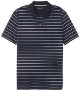 Banana Republic Slim Luxury-Touch Tri-Color Stripe Polo