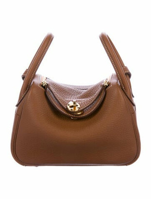 Hermes Clemence Mini Lindy 20 Gold