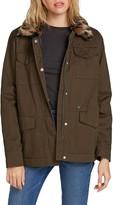 Volcom V-51 Faux Fur Collar Cotton Jacket