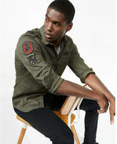 Express Embroidered Patch Military Shirt Jacket