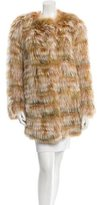 Roberto Cavalli Knitted Fox Fur Coat w/ Tags