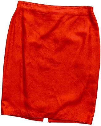 Gianni Versace Red Silk Skirt for Women Vintage