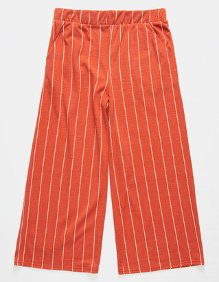 Full Tilt Stripe Crop Black & White Girls Palazzo Pants