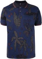 Paul Smith palm print polo shirt