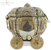 Mary Frances Before Midnight Beaded Bejeweled Cinderella Carriage Coach Purse Handbag