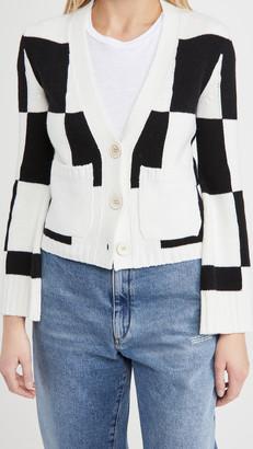 Off-White Check Twin Set Cardigan