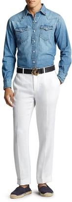 Ralph Lauren Purple Label Western Denim Button-Down Shirt
