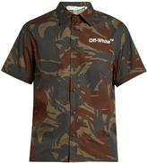 Off-White Short-sleeved camouflage-print poplin shirt