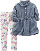 """Carter's Little Girls' Toddler """"Garden Delight"""" 2-Piece Outfit"""