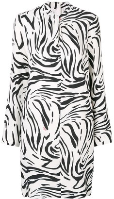 MSGM zebra print short dress