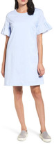 Halogen Tie Back Ruffle Sleeve Dress (Petite)