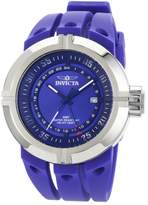Invicta Men's 0833 Force Collection Contender GMT Blue Dial Blue Polyurethane Watch